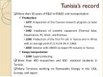 tunisia s record