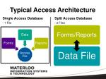 typical access architecture