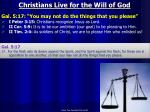 christians live for the will of god1