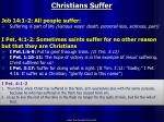 christians suffer