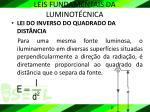 leis fundamentais da luminot cnica