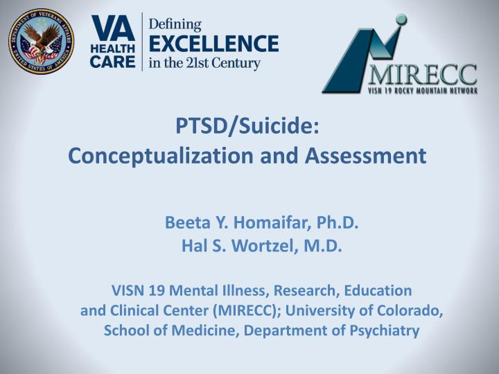 ptsd suicide conceptualization and assessment