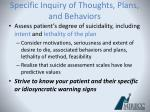 specific inquiry of thoughts plans and behaviors1