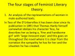 the four stages of feminist literary theory