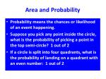 area and probability