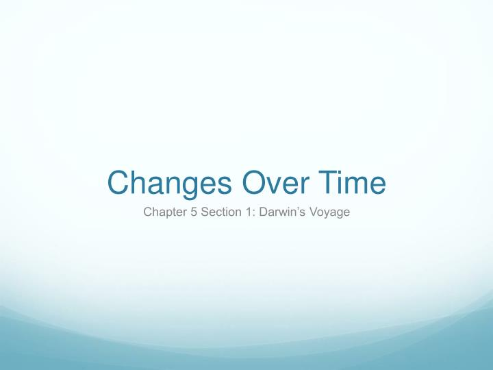 changes over time n.