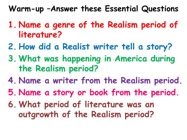 warm up answer these essential questions n.