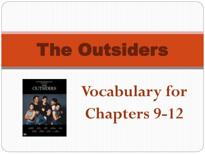 the outsiders n.