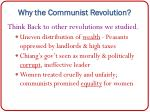 why the communist revolution
