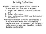 activity definition