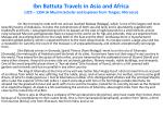 ibn battuta travels in asia and africa 1325 1354 a muslim scholar and explorer from tangier morocco