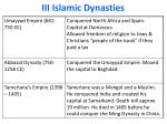 iii islamic dynasties
