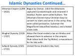 islamic dynasties continued