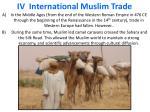 iv international muslim trade