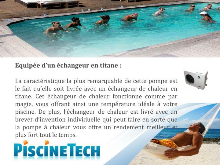Ppt profitez de la meilleure exp rience de piscine avec for Temperature ideale piscine