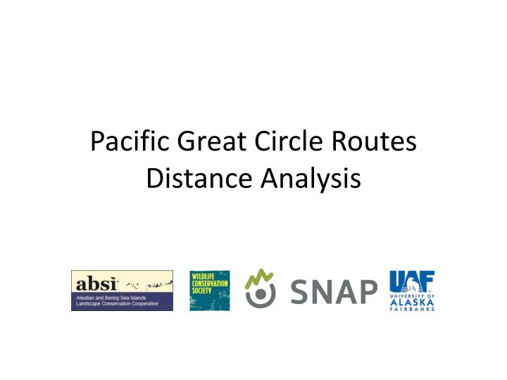 pacific great circle routes distance analysis n.