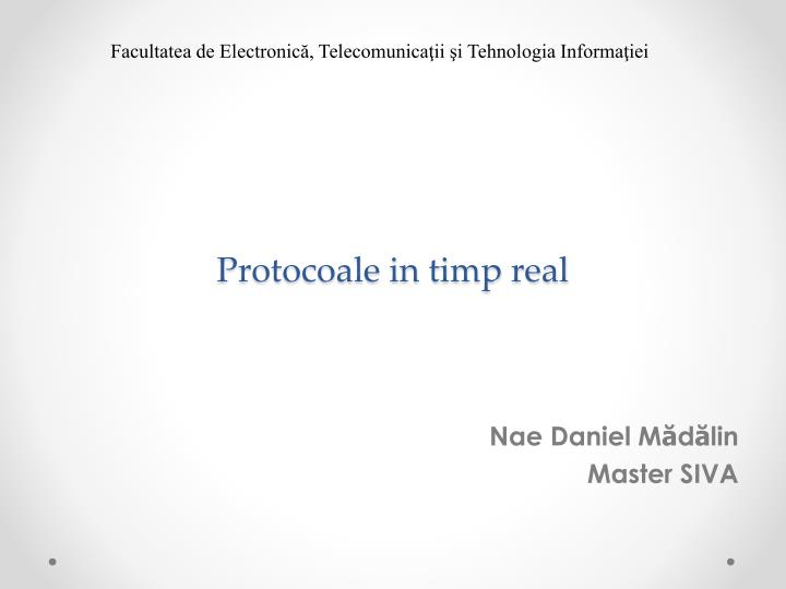 protocoale in timp real n.