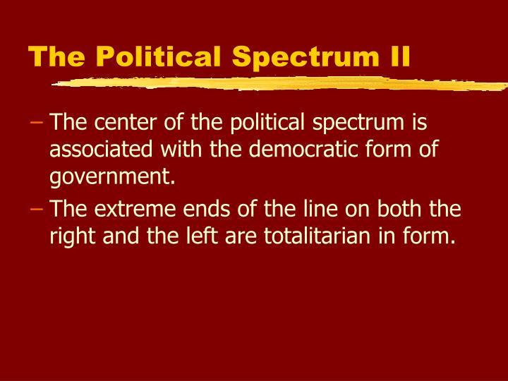 The Political Spectrum II