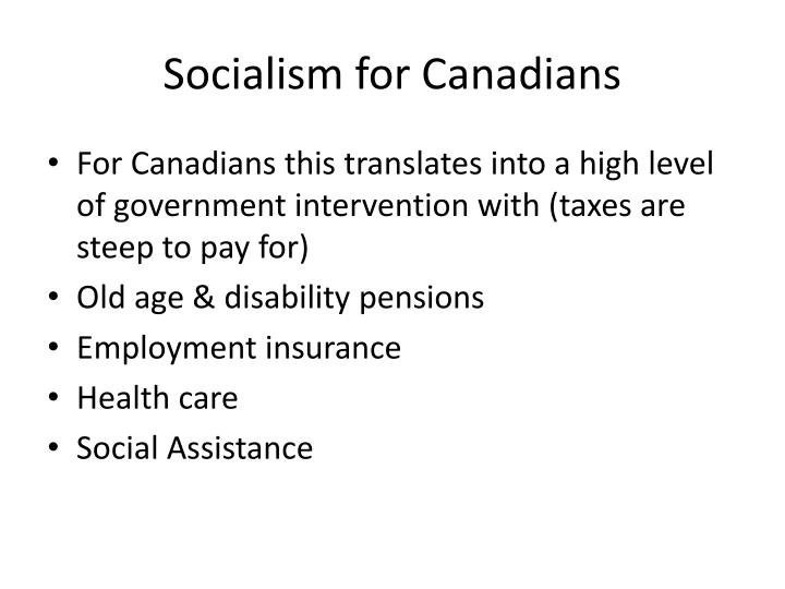 Socialism for Canadians