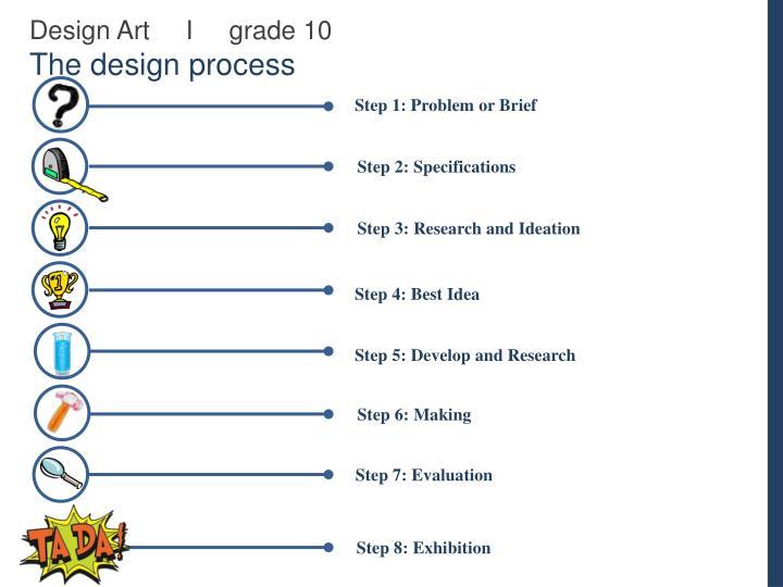 Design art i grade 10 the design process1