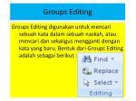 groups editing