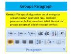 groups paragraph
