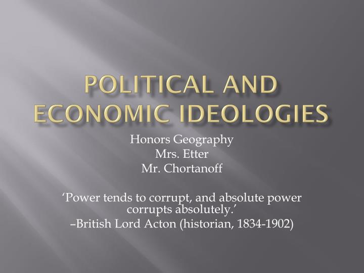 political and economic ideologies n.