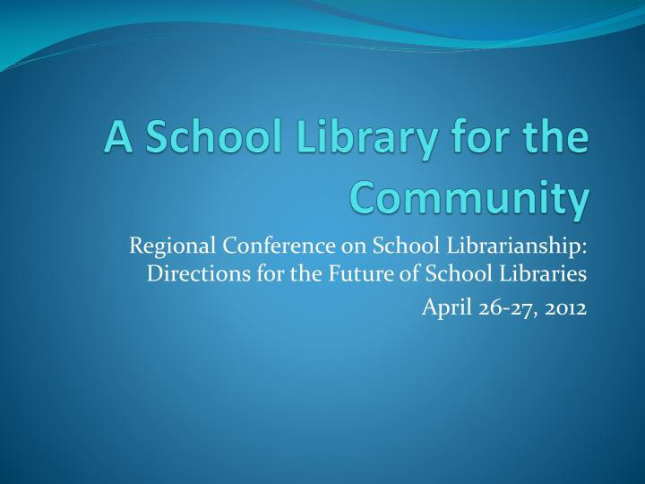 a school library for the community n.
