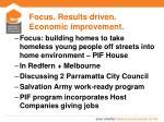 focus results driven economic improvement