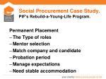 social procurement case study pif s rebuild a young life program3