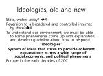 ideologies old and new
