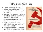 origins of socialism