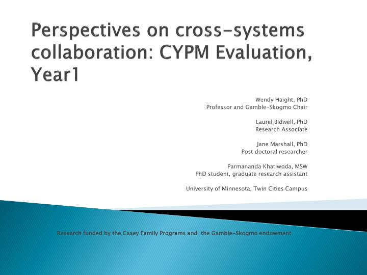 perspectives on cross systems collaboration cypm evaluation year1 n.
