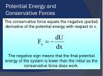 potential energy and conservative forces1