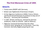 the first moroccan crisis of 19053