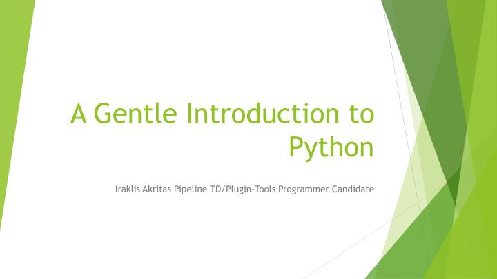 a gentle introduction to python n.