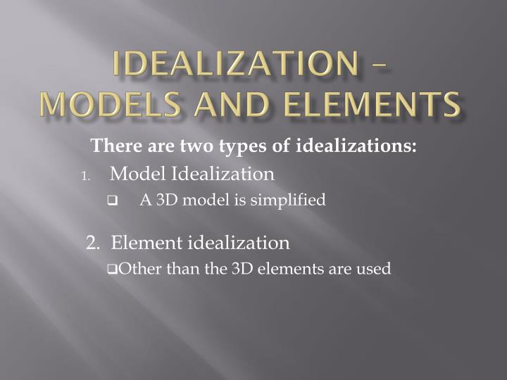 idealization models and elements n.