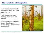 the threat of acid precipitation