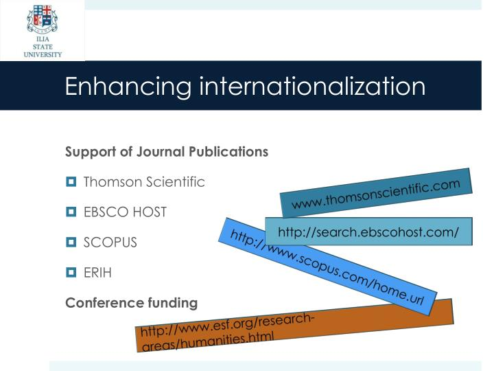 Enhancing internationalization