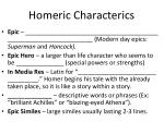 homeric characterics
