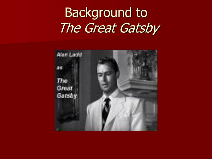 background to the great gatsby n.