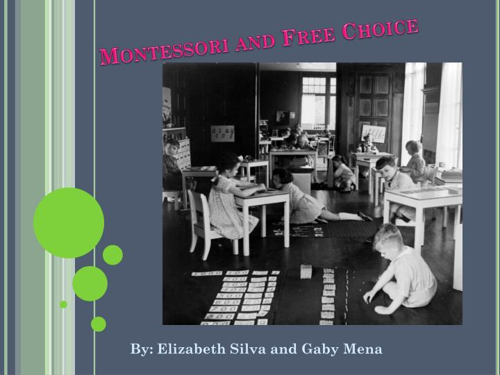 montessori and free choice n.