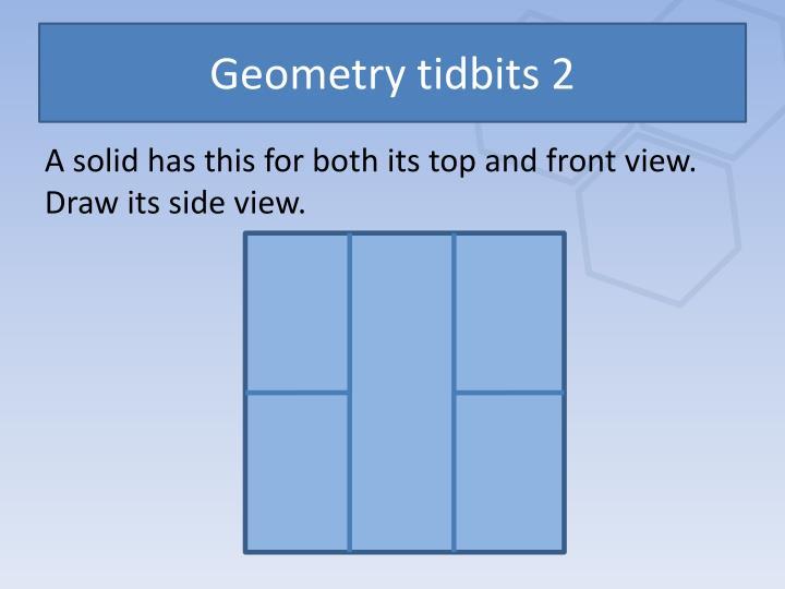 Geometry tidbits 2