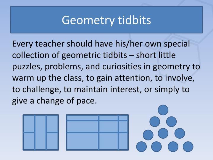 Geometry tidbits