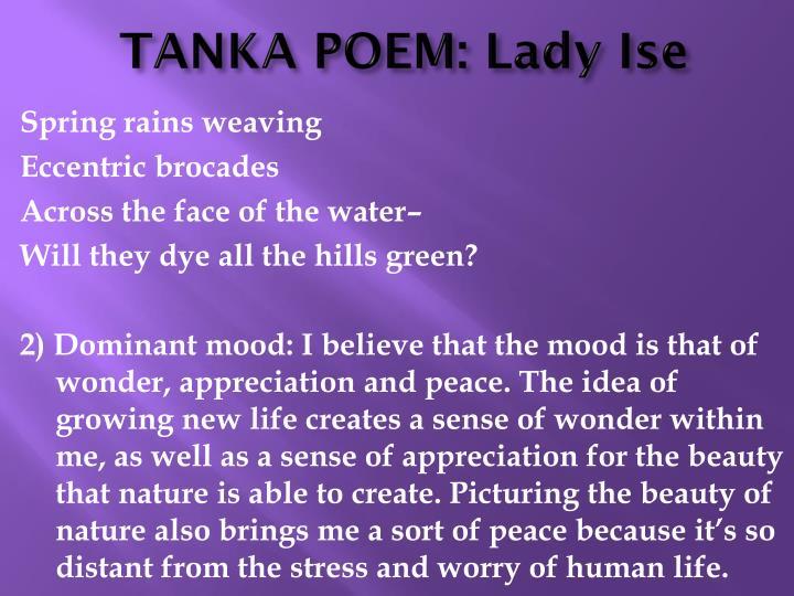 Tanka poem lady ise1
