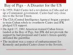bay of pigs a disaster for the us