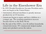 life in the eisenhower era