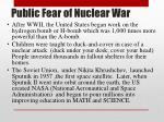 public fear of nuclear war