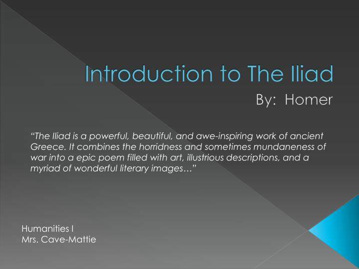 introduction to the iliad n.