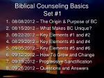 biblical counseling basics set 1